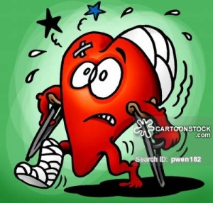Injured heart.